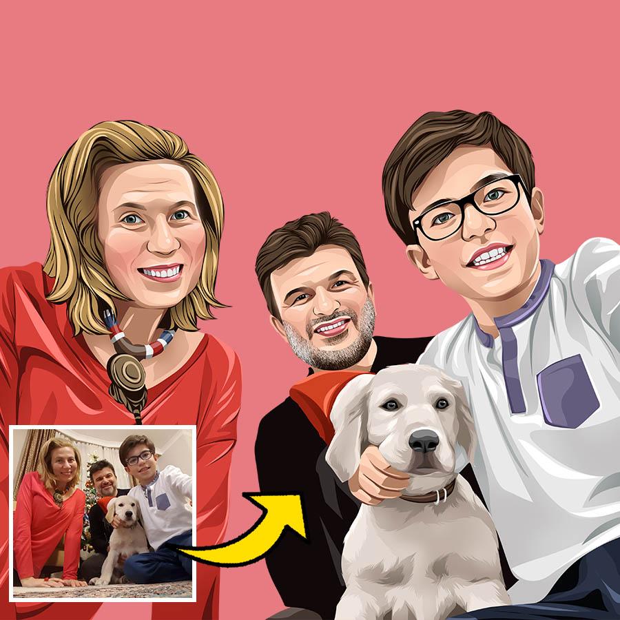 Familien Cartoon