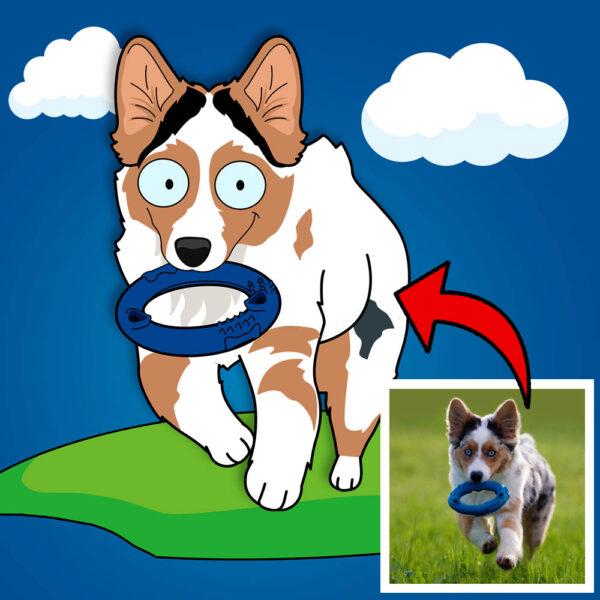 Haustier Cartoon