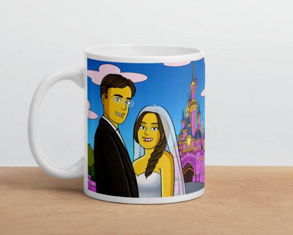Tasse mit personalisierten Cartoon