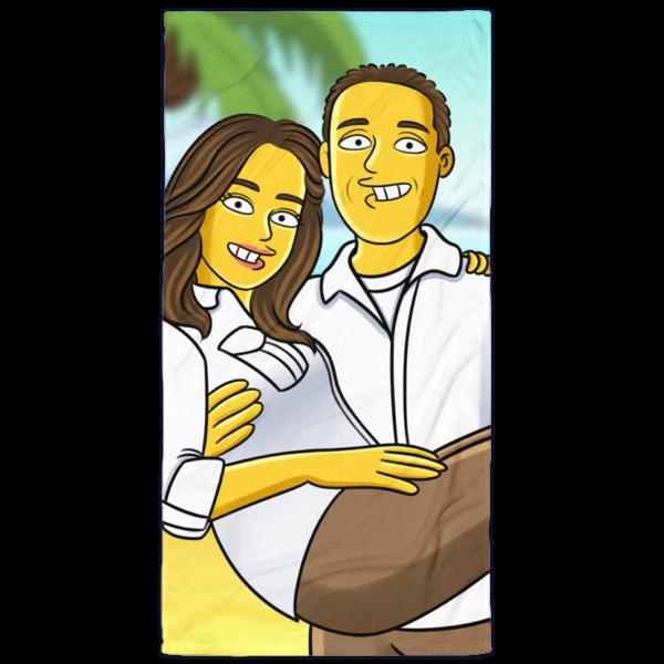 Yellow Cartoon Badetuch