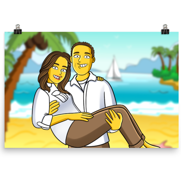 Yellow_Cartoon Poster ohne Rahmen