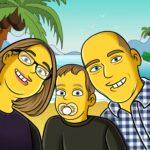 Familien Yellow Cartoon von Toonyou.ch