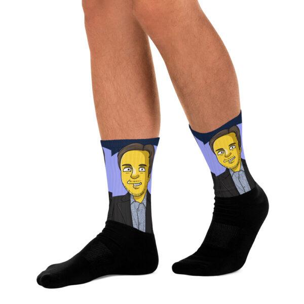 Socken mit deinem personalisierten Cartoon