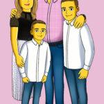 Yellow Familien Cartoon von Toonyou.ch