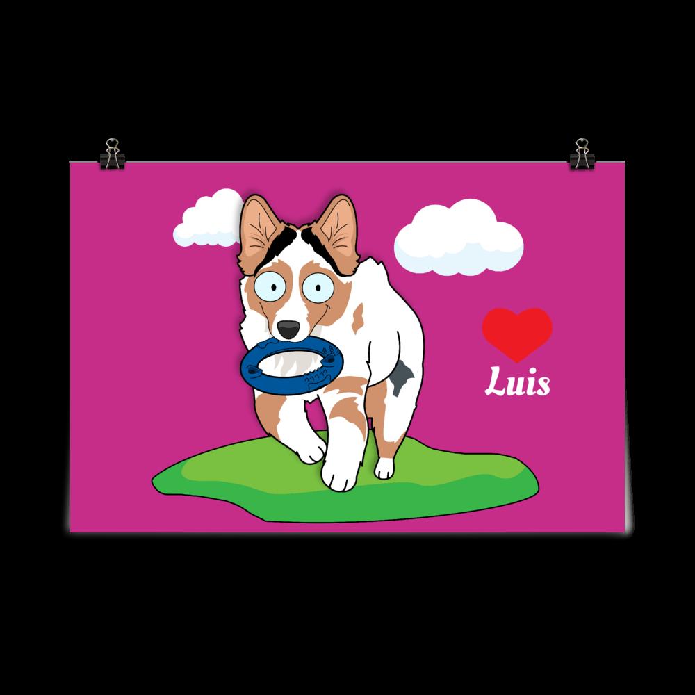Haustier Cartoon Poster ohne Rahmen