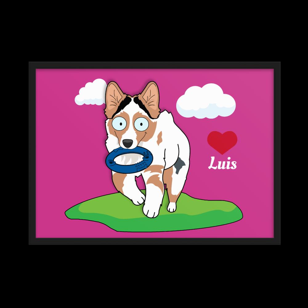 Haustier Cartoon Poster mit Rahmen