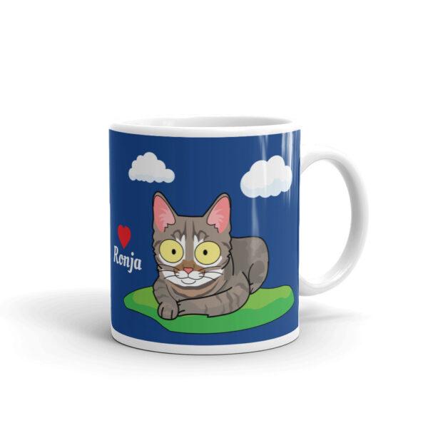 Haustier Cartoon Tasse mit Büssi