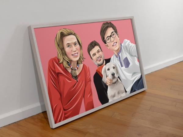 Familien Cartoon Poster