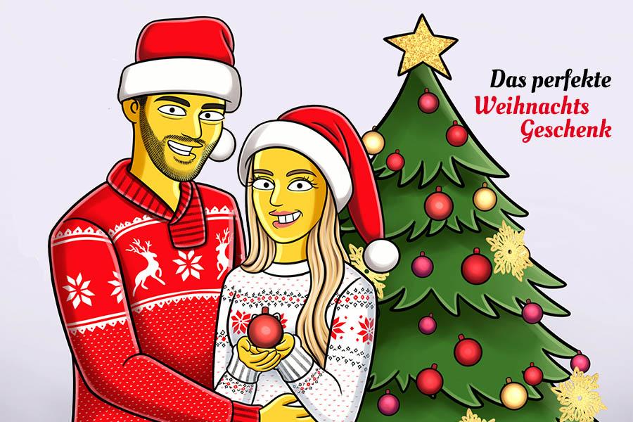 Yellow Cartoon Weihnachtsgeschenk