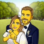 Hochzeitscartoon